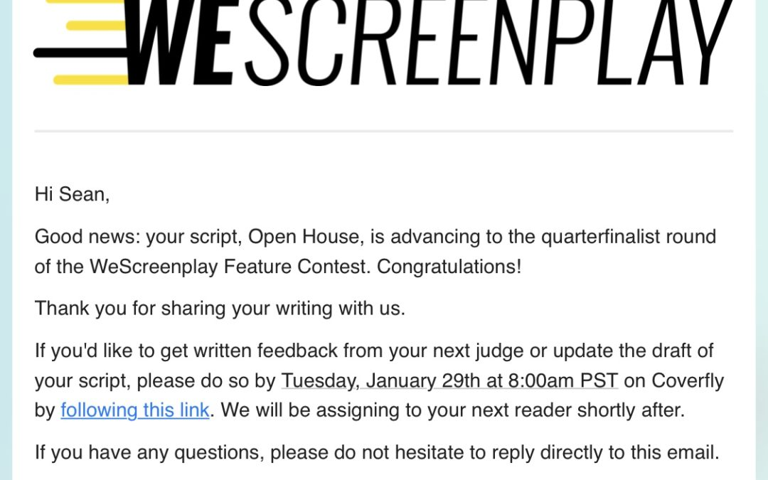 Our horror screenplay, OPEN HOUSE, moves forward  | Sean JS